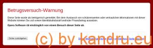 Warnung im Opera-Browser